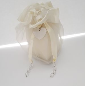 Things Rememberd Heart Candle In An Organza Bag